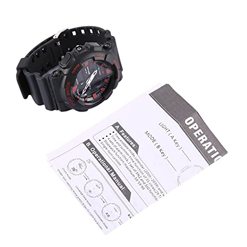 CandyT Reloj electrónico Multifuncional Reloj Deportivo para Exteriores Resistente al Agua con luz LED y Dos punteros para Hombres