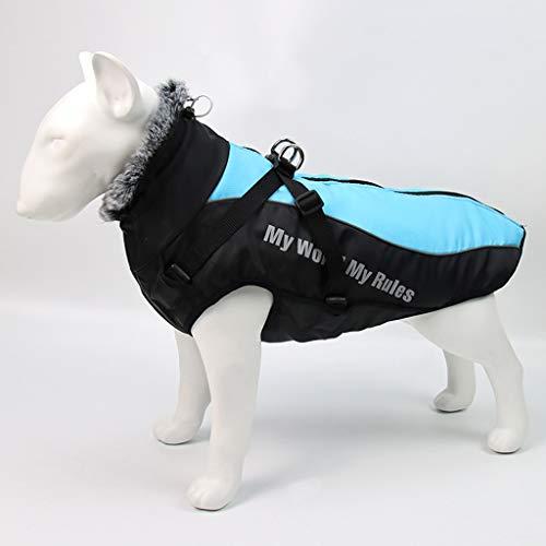 WALNUTA Cuello de Chaqueta de Perro Grande de Invierno Ropa de Perros de Invierno para Mascotas Abrigo de Perro Grande Impermeable (Size : 5XL Code)