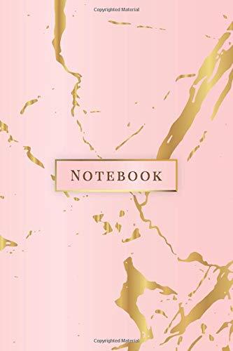 Notebook: Quaderno per appunti 108 pagine a righe 6x9 || Soft Cover || Marmo Rosa & Oro