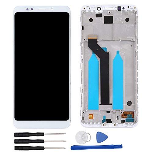soliocial Asamblea Pantalla LCD Pantalla Táctil Vidrio para Xiaomi Redmi 5 Plus 5.99'' Blanco con Marco