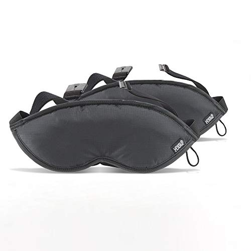 Comfort Eye Mask with Adjustable Straps Blocks Out All Light, Black, One Size