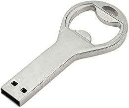 8GB USB Flash Drive with Bottle Opener Shape 8G Memory Stick U Disk - Silver
