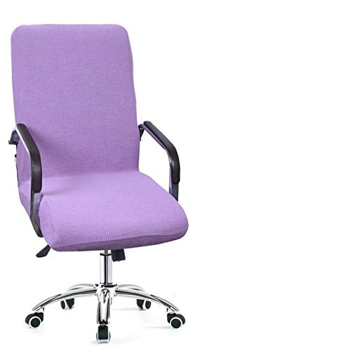 LLAAIT New 9 Colors Modern Spandex Comter Chair Cover 100% Polyester Elastic Fabric Office Chair Cover Easy Washable Removeable