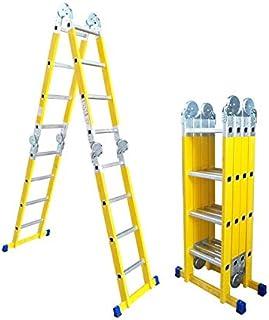 Multi Purpose Foldable Aluminium Ladder Heavy Duty Super Multi-Function Folding Indoor Outdoor Industural (4 * 4 4.75m)
