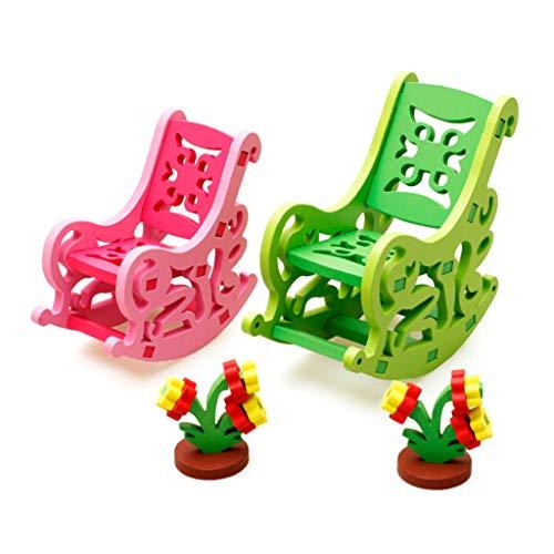 DALIN 1 juego de muñecas de madera de colores en miniatura, accesorios para la casa, muebles de...