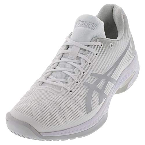 ASICS Women's Solution Speed FF Tennis Shoes, 7M, White/Silver