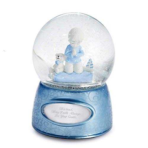 Praying Boy Musical Snow Globe