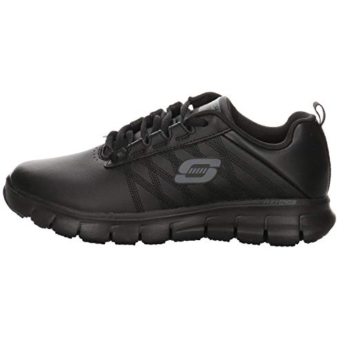 Skechers Women's Sure Track Erath - Ii Lace-up Sneakers, Black (Black Leather Blk), 6 UK (39 EU)
