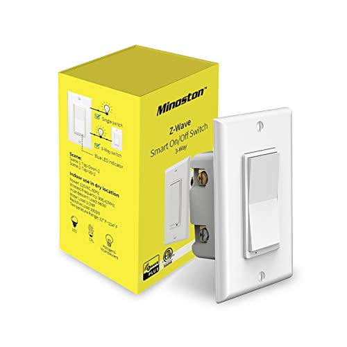 Z-Wave On/Off Switch Smart Light Switch in-Wall Paddle, Support 3-Way Installation, Work with Smartthings & Wink, Signal Repeater, Required Z-Wave Hub, FCC & ETL Listed (MS10Z)