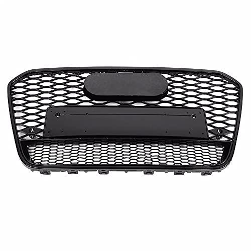 DAJIJI Parrilla Frontal, Frente Deportivo Hex Mesh Honeycomb Hood Grill Black para Audi A6 / S6 C7 2012 2013 2014 para Accesorios de Auto RS6 Estilo