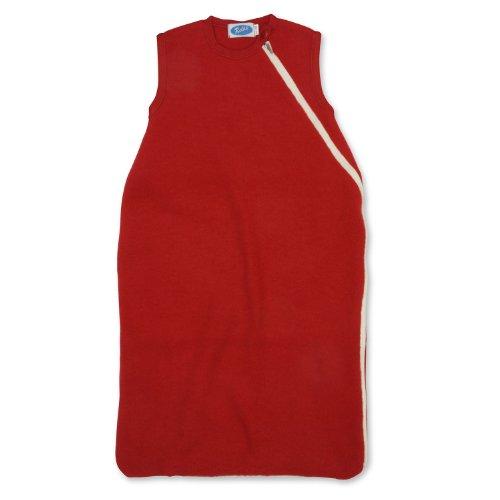 Reiff Baby Fleeceschlafsack o Arm, Größe 74/80, Farbe Burgund, 100% Merinoschurwollfleece kbT