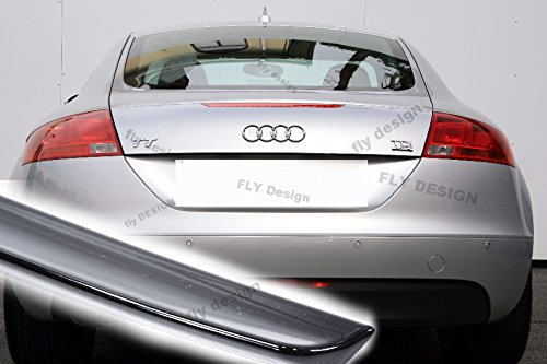 Car-Tuning24 53940724 Tuning TT ab 2006 rear trunk lid Spoiler painted Black Metallic gloss
