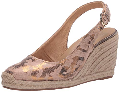 Naturalizer Womens Pearl Espadrilles Pump, Leopard ,10.5 medium US