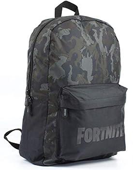 Fortnite Character Emote Camo Llama All Over Print Black/Khaki Backpack Bag