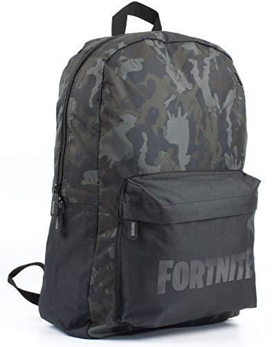 Carácter Fortnite Camo Llama todo la impresión Negro caqui mochila bolsa