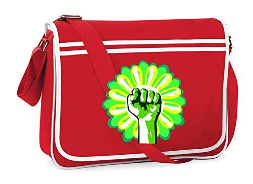 Druckerlebnis24 Schultertasche - Ökologie Umwelt Spass Faust - Umhängetasche, geeignet für Schule Uni Laptop Arbeit