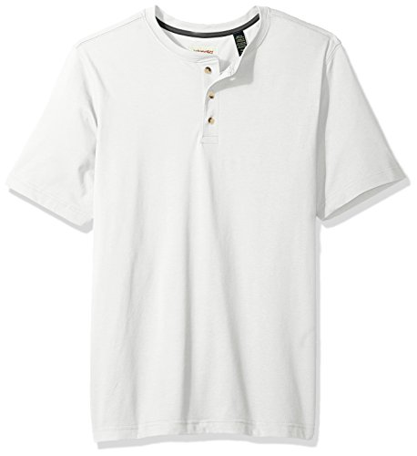 Wrangler Authentics Men's Short Sleeve Henley Tee, bright white, X-Large