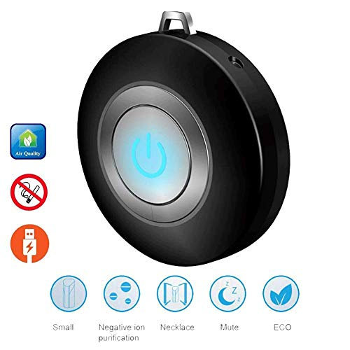 Best Deals! HUWAI-F Portable Low Noise Air Purifier Necklace Negative Ionizer Air Freshener Cleaner ...