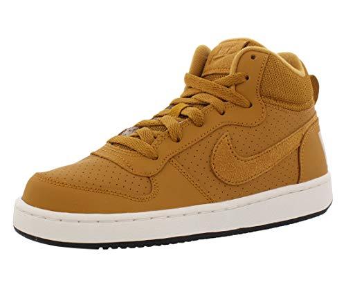 Nike Court Borough Mid (GS), Zapatillas de Deporte Hombre, Multicolor (Wheat/Wheat/Summit White/Black 701), 38.5 EU