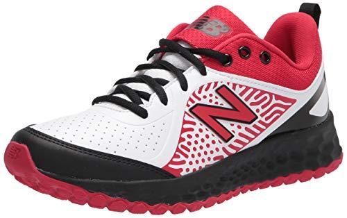 New Balance Women's Fresh Foam Velo V2 Turf Softball Shoe, Red/Black/White, 7.5