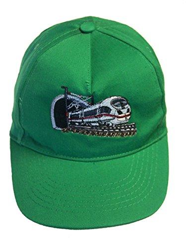 Zintgraf Jungen Baseball Kappe Schnellzug Cap mit Eisenbahn Zug Stickerei (grün)