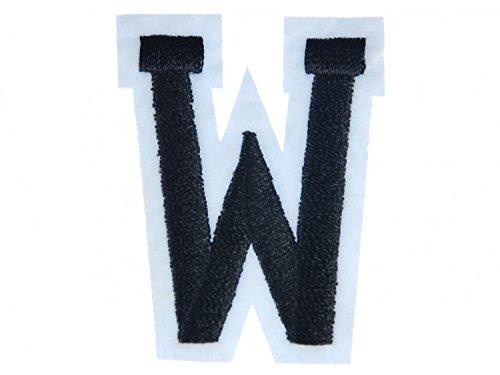Miniblings initiales Lettre d'alphabet Lettre ABC correctif Patch W Patch I Patches correctifs à Repasser Enfants pour Le Repassage