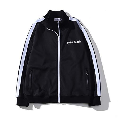 SMFYY Sweatshirt Wild Hoodie Palm Angels T-Shirt Tide Brand Fledermausärmel Drop Shoulder Männer Und Frauen Gleiches Paar Kurzarm,Schwarz,L