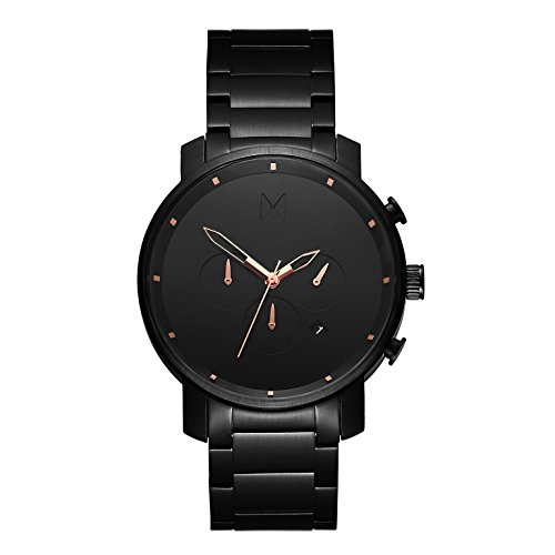 MVMT Herren Chronograph Quarz Uhr mit Edelstahl Armband D-MC01-BBRG