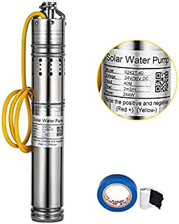 Happybuy Solar Powered Submersible Deep Well Water Pump 8.8GPM 284W 36V DC Stainless Steel