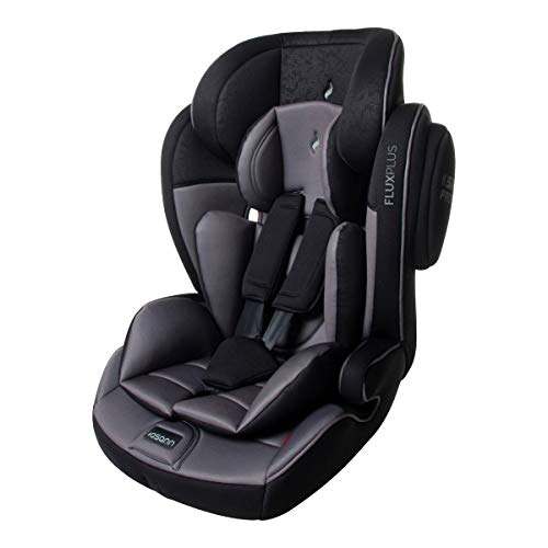 Osann 102-137-271 Kinderautositz Flux Plus, Gruppe 1/2/3 (9-36 kg), Autositz, schwarz