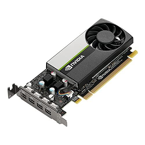 PNY NVIDIA T1000 Carta Grafica Professionale 4GB GDDR6 PCI Express 3.0 x16, Singolo Slot, 4x Mini-Porta del display, 8K Supporto, Ventilatore attivo ultra-silenzioso