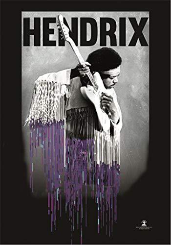 Heart Rock Licensed Bandera Jimi Hendrix–Dripping, Tela, Multico