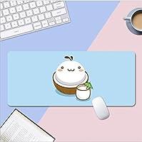 マウスパッド 漫画のクマのマウスパッド 織り目加工の布のマウスパッド、縁がステッチされた拡張ゲーミングマウスパッド、滑り止めのゴム製ベース、オフィスおよびホームデスクマット B