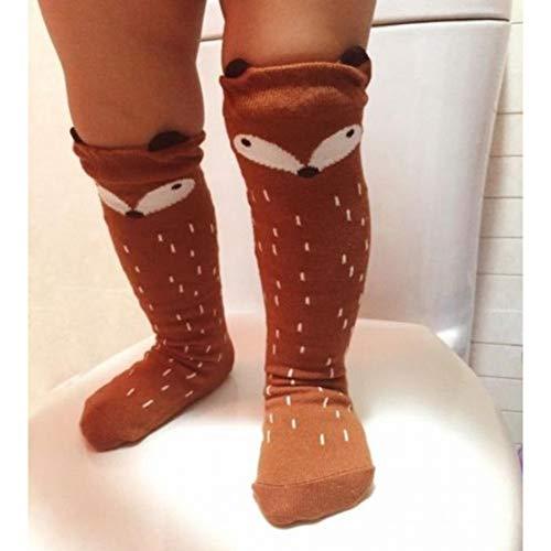 SLXFAD Chaussettes Chaussettes Populaires pour Bébé Filles Enfants Chaussettes Genou Coton Bonneterie Haute