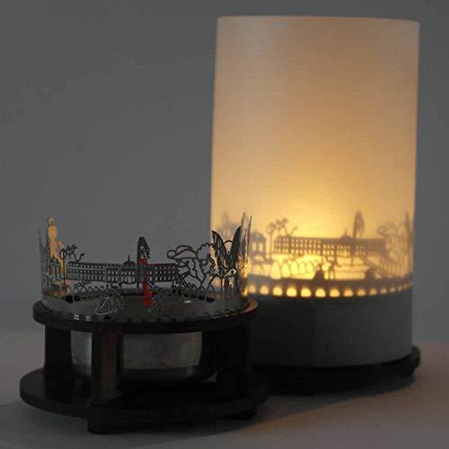 13gramm Ludwigsburg-Skyline Windlicht Schattenspiel Premium Geschenk-Box Souvenir, inkl. Kerzenhalter, Kerze, Projektionsschirm & Teelicht