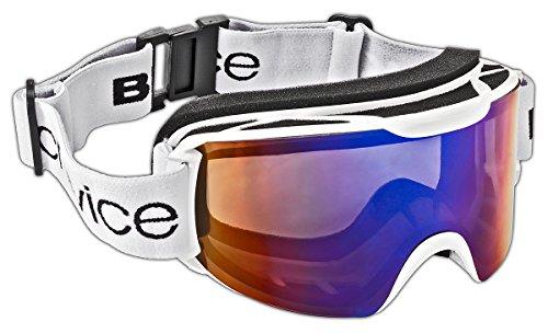 Black Crevice Erwachsene Skibrille, weiß/Blau, One size