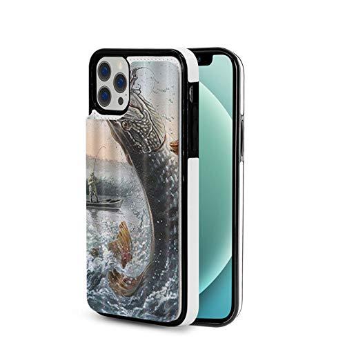 KAIXIN Funda para iPhone 12, diseño de hombre en barco, pesca de peces grandes en olas