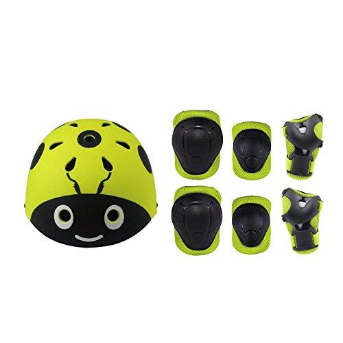 Skateboard Helm Protektoren Set Für Kinder, UniEco Schutzset Ellenbogenschützer Handgelenkschoner Knieschoner für Skate, Fahrrad, Radfahren, Reiten, Skateboard, Roller Skate