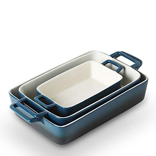 KOOV Bakeware Set, Ceramic Baking Dish, Rectangular Baking Pans Set, Casserole Dish for Cooking, Cake Dinner, Kitchen, Wrapping Upgrade, 12...