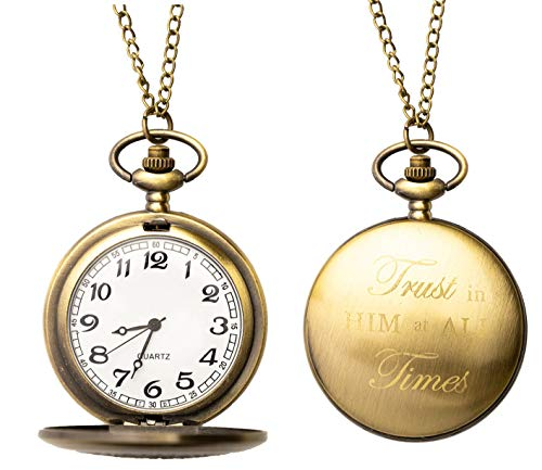 Inspirational-Keepsake-Pocket-Watch-Gift-Gift-of-Faith-for-Men-Women-Children-boy-or-Girl-Baptism-Gift-Missionary-Gift-Birthday-Confirmation-Trust-in-The-Lord