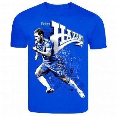 Chelsea Eden Hazard T-shirt Superstar Belge (100% Coton)