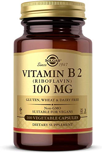 Vitamin B2 (Riboflavin) 100 mg Vegetable Capsules 100 Count