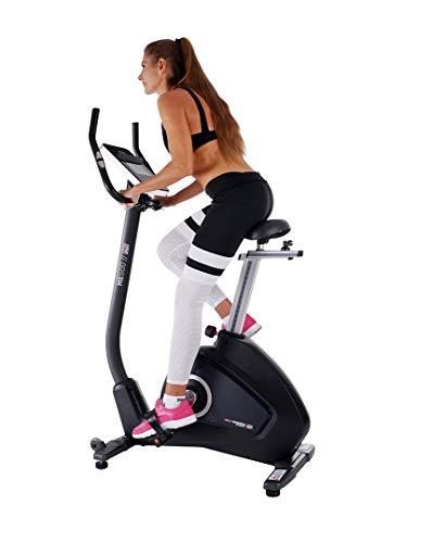 Miweba Sports Ergometer ME500 Trimmrad Cardio Heimtrainer - Streaming App - 14 Kg Schwungmasse - Magnetbremse - Pulsmesser (ME500)