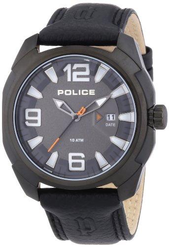 Police PL.13836JSB-61 - Reloj analógico de Cuarzo para Hombre con Correa de Piel, Color Negro