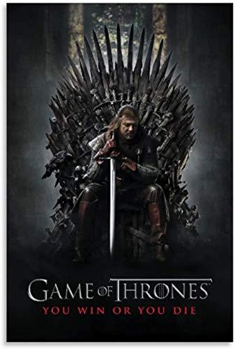 Toile Peinture 50x70cm sans Cadre Amérique décorative Game of Thrones Saison 1 pour Salon