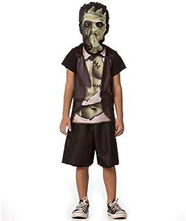 a4c6997e0 Fantasia de Frankenstein Infantil Masculina Halloween Com Mascara