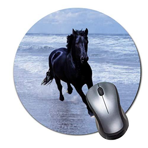 Alfombrilla de ratón para videojuegos de goma antideslizante para ratón, para ordenadores portátiles, alfombrilla de ratón, diseño de caballo salvaje y libre