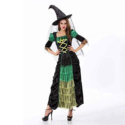 Fashion-Cos1 Halloween Hexe Kostüme Weihnachten Karneval Kleidung Fantasie Infantil Erwachsene Frauen Vampire Cosplay Party Kleid