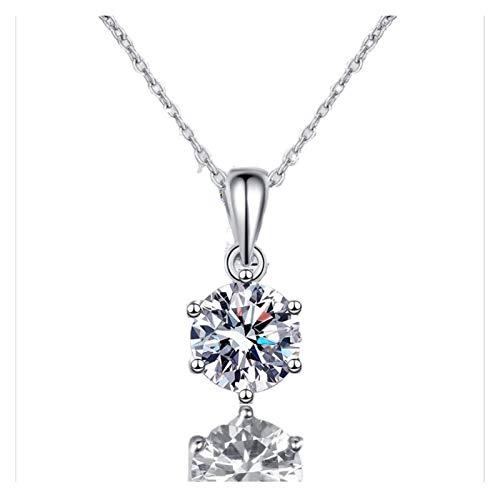 Colgante de Moissanite de plata de ley 925, colgante de Moissanite cuadrado / redondo, collar de plata hipoalergénico, regalo del día de la madre, regalo del día de San Valentín, regalo de cumpleaños