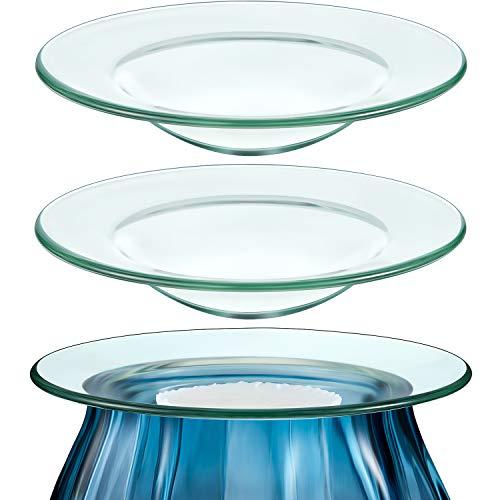 4,5 '' Ersatz Ölwärmer Schale Runde Glas Schale Wachsschmelz Wärmer Schüssel Platte Deckel Schale für Aromatherapie Lampe Elektrische Lampen Öl- und Tortenwärmer (3 Stücke)